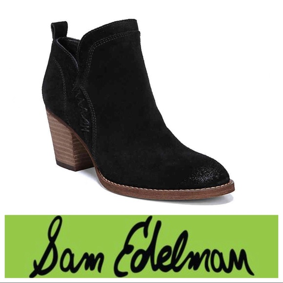 1c6fdc7f4b9d New Sam Edelman Black Suede Mathis Booties